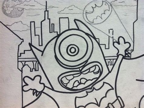 batman minion coloring pages minion batman i think yes funny pinterest