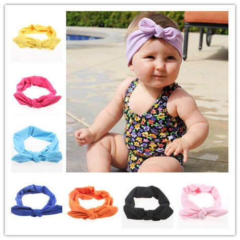 new style vintage knotted bow headband baby headband new baby headwrap top knot cotton headband fashion