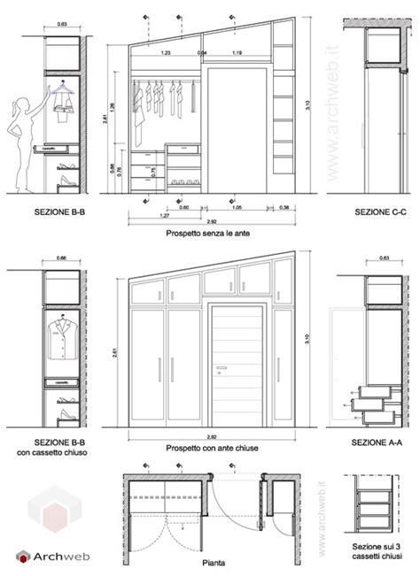 progetto armadio a muro progetto di un armadio a muro