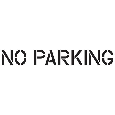 Word Template No Parking Adorazar No Parking Template Word