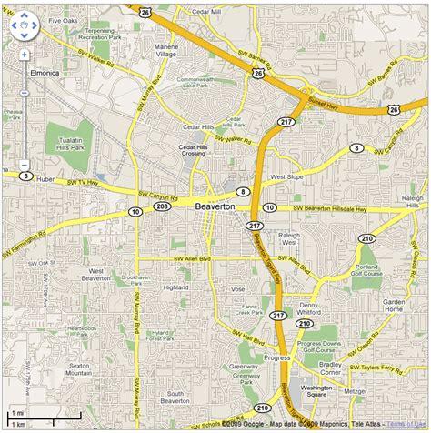 map of oregon beaverton beaverton map ask a merchant portland
