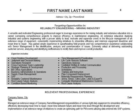 click here to download this reliability engineer resume