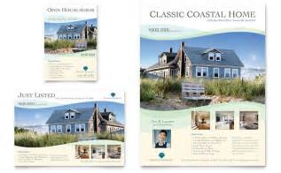 coastal real estate flyer amp ad template design