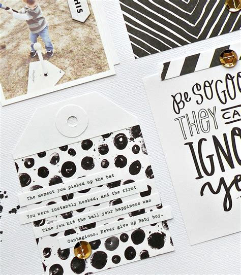 scrapbook layout black and white black white scrapbook page me my big ideas