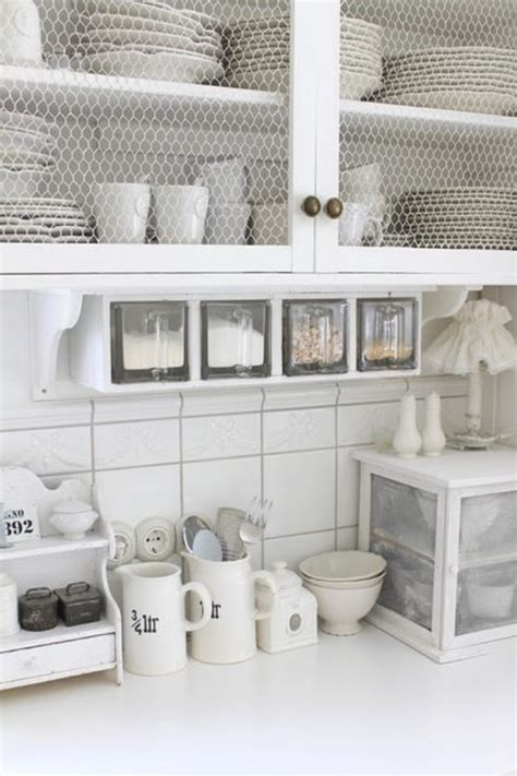 wire shelving for kitchen cabinets chicken wire shelf in kitchen our farm house pinterest