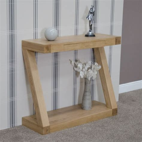 Z Oak Console Table Z Oak Designer Console Table