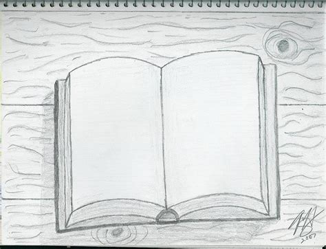 N Drawing Book by Open Book Drawing By Theodore Hughes