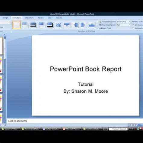 powerpoint book report powerpoint book report tutorial