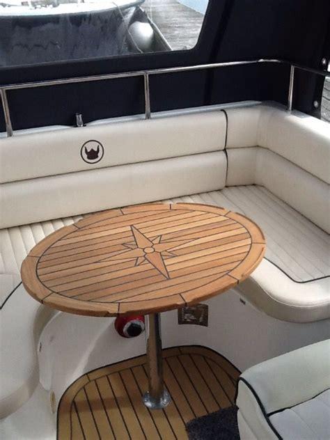 nautic star boat tables nautic star ellipes teak boat table marine teak