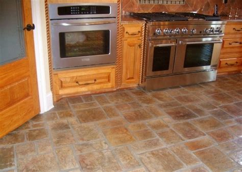 brick floor kitchen floor tile design ideas for kitchen room decorating