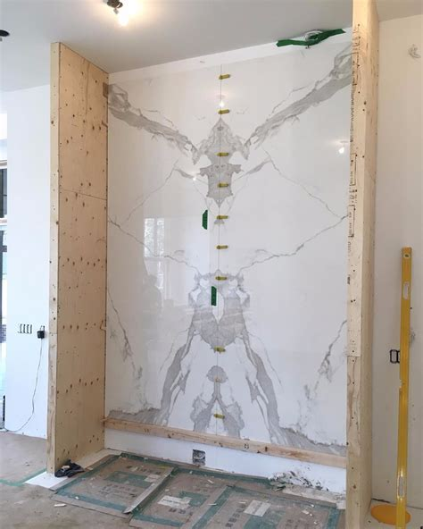 Feature Wall: Neolith Estatuario Bookmatched   Marble