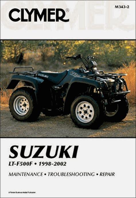 Suzuki Quadmaster 500 Service Manual Suzuki Lt F500f Quadrunner 500 Atv Repair Manual 1998 2002