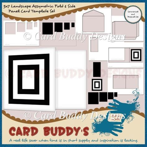 5x7 card template landscape 5x7 landscape asymmetric fold side panel card template