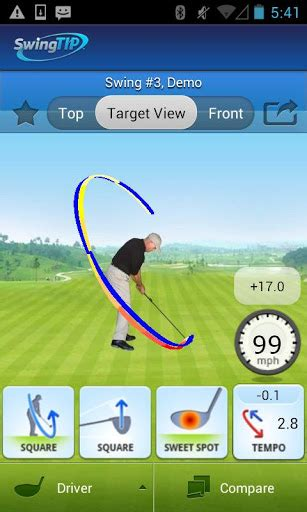 golf swing speed app android swingtip for android helps golfers improve their swings