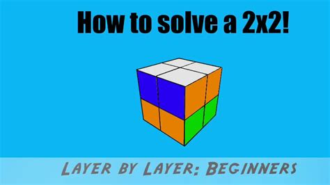 tutorial for rubik s cube beginners how to solve the 2 2 2 rubik s cube beginners tutorial