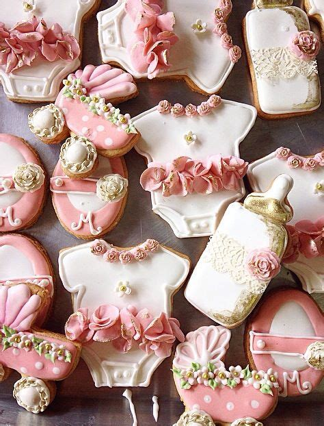 top 17 vintage baby shower cookies designs cheap unique party day snack food diy craft