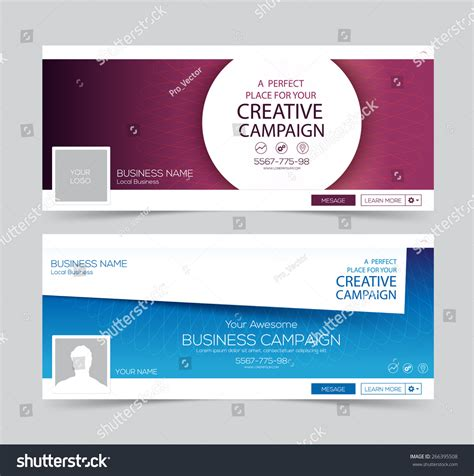 how to layout a banner web banner header layout template creative stock vector