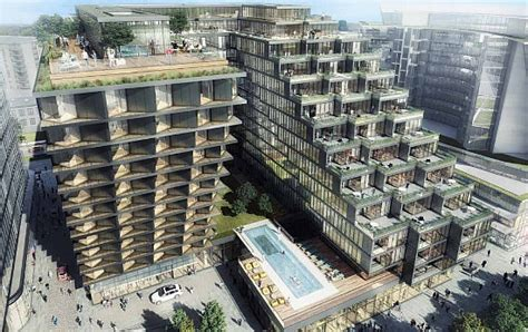 u shaped building the 1 078 residential units planned for the wharf