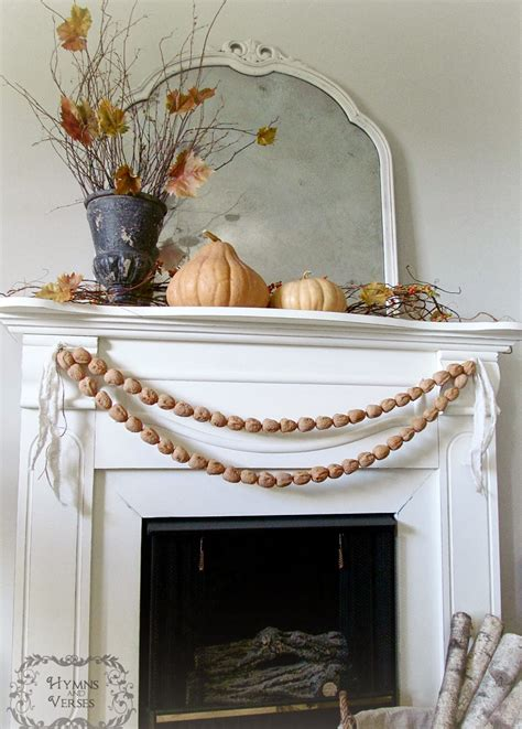 awesome Elegant Mantel Decorating Ideas #1: Walnut+Garland+Mantel.jpg