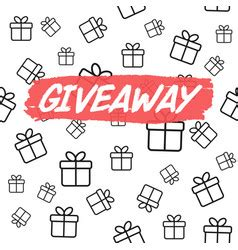 giveaway card template giveaway vector images 560