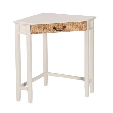 Southern Enterprises Panama Corner Writing Desk In White White Corner Writing Desk