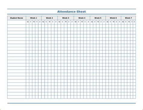 8 attendance sheet template authorizationletters org