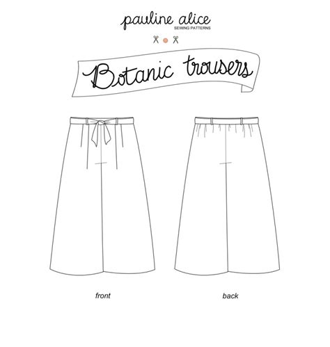 trouser pattern making pdf botanic trousers pdf pattern paulinealice
