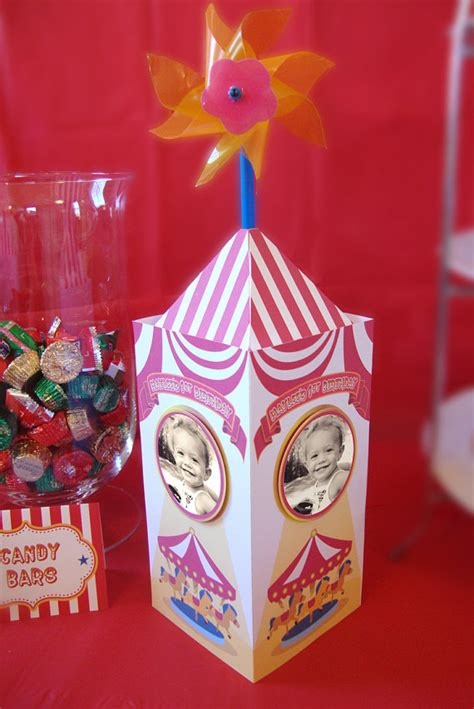 carnival circus themed centerpieces set of 10