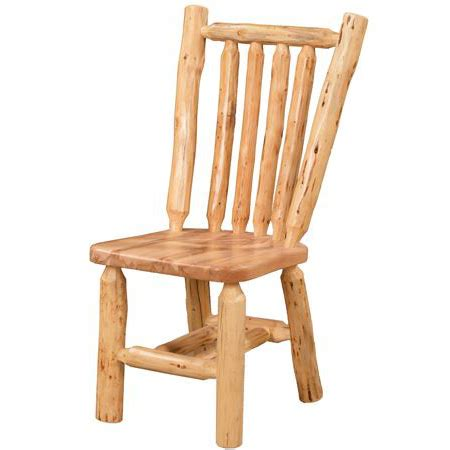 log collection dining chair amish crafted furniture