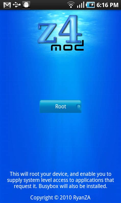 root apk for android z4root apk v1 3 0 android news tips tricks how to