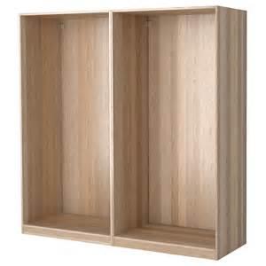 armoire 3 portes coulissantes ikea pax 2 wardrobe frames white stained oak 200x58x201 cm ikea