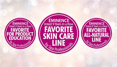 Eminence Handmade Organic Skin Care - eminence organics wins favorite skin care line award for a