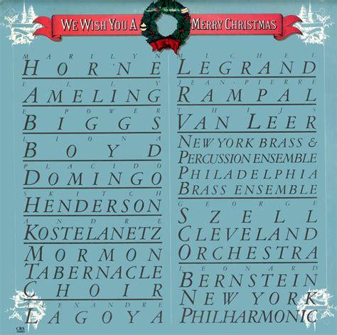 Wish Records We Wish You A Merry Cbs Records Fm39093 Vinyl Record Lp