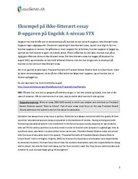 Skriv Et Godt Engelsk Essay by Eksempel P 229 Ikke Litter 230 Rt Essay Engelsk A Niveau Studienet Dk