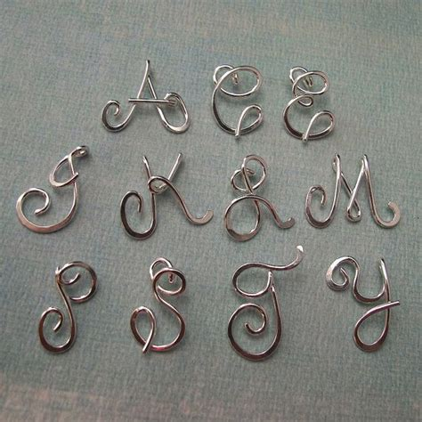 Silver Wire Letters