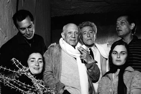 Lucien Clergue Picasso with Friends and Family 1955, Photograph: For Sale at 1stdibs
