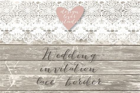 Wedding Invitation Lace Clipart by Vector Lace Border Rustic Wedding Invitation Border