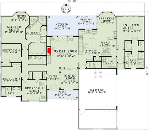 inlaw suite plans open living with in law suite 59679nd 1st floor master