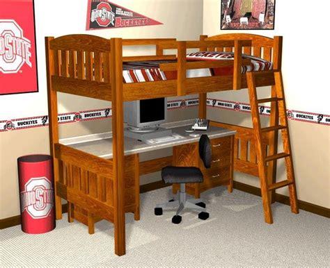 bunk bed desk on pinterest loft bed plans desk plans 24 best loft bed plans images on pinterest child room