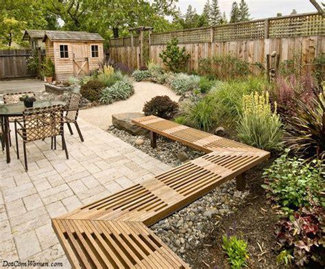 stone patio bench design beautiful backyards for all seasons dot com women
