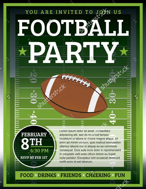 free football flyer templates spectacular football flyer templates 24
