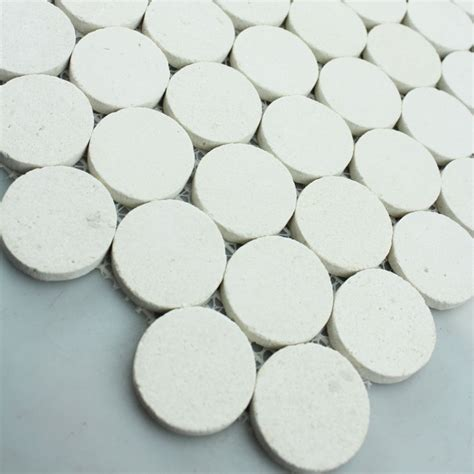 pattern tile circle stone mosaic tile circle pattern washroom wall penny round