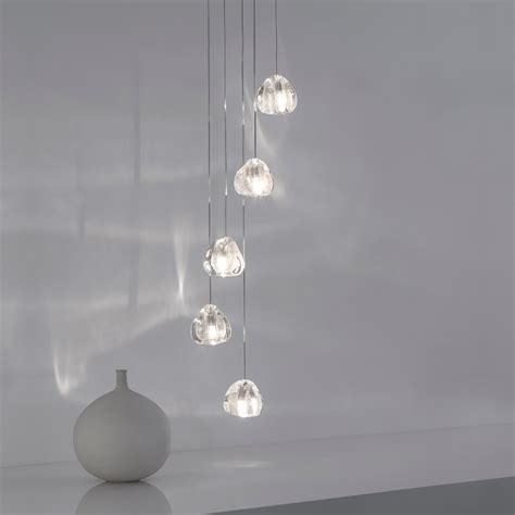 drop pendant light silver five drop pendant light
