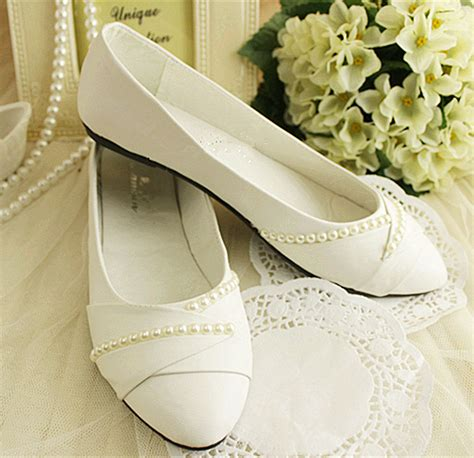 flat ballet wedding shoes ivory white pearls flat ballet wedding shoes bridal pumps