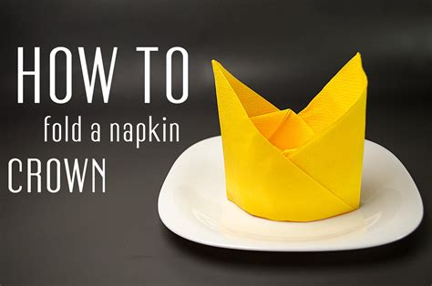 How To Fold A Of Paper Into A Card - how to fold a napkin into a crown