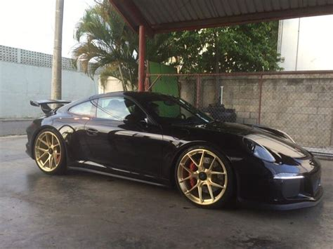 gold porsche gt3 911 gt3 on gold hre performance wheels porsche