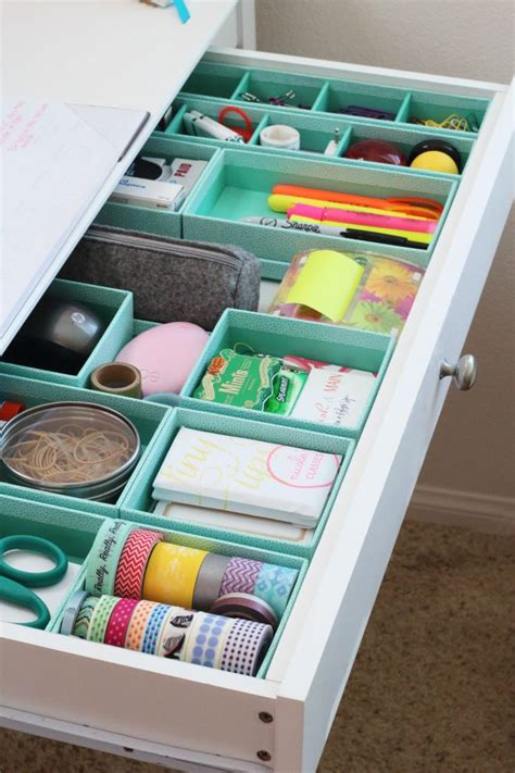 Desk Drawer Organizer Ideas 20 Office Organization Tips The Idea Room