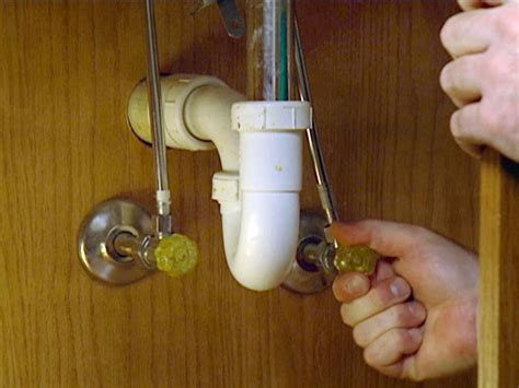 water valve under how to install a single handle kitchen faucet how tos diy