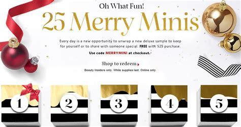 target box 2015 calendar sephora merry minis sle