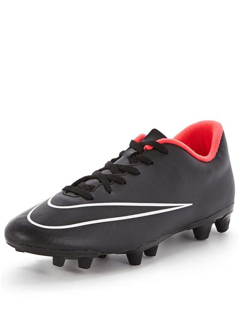 mens black football boots nike mens mercurial vortex ii firm ground football boots